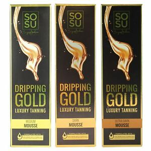 78623ae1f00 SOSU by SJ Dripping Gold Luxury Self Tanning Mousse Fake Dark Medium ...