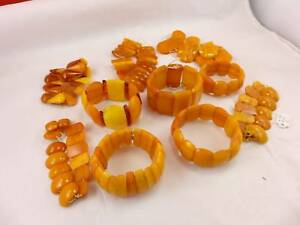 275-5-Gramm-natural-Baltic-Butterscotch-Amber-Bernstein-Armband-Lot-antik