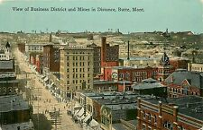 Montana, MT, Butte, View of Business District & Mines in Distance 1910 Postcard