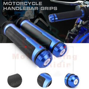 """Motorcycle CNC 7//8/"""" 22mm Handle Bar GEL Rubber Hand Grips End Bar Universal Fits"""