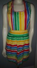 Vintage Apron Full Bib Cotton Striped