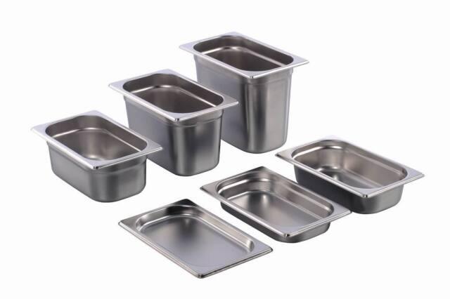 GN Behälter Gastronorm 1/4 Edelstahl 20 mm - 200 mm Tiefe