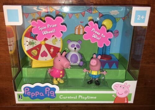 Peppa Pig Carnival Playtime Playset Toy Includes Peppa /& George New