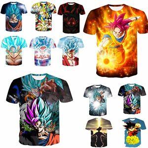 Men-039-s-3D-Print-T-Shirt-Slim-funny-Casual-Short-Sleeve