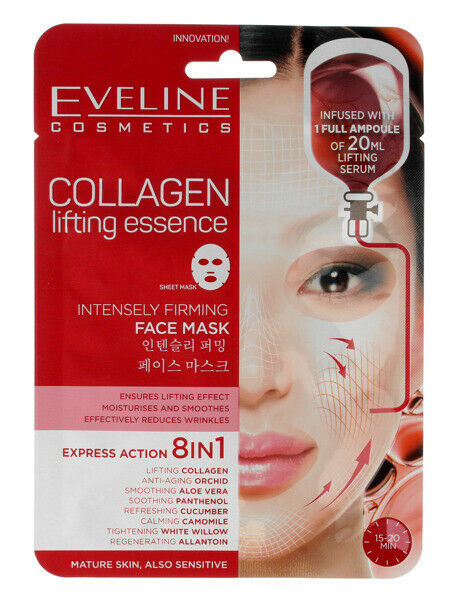 Eveline Cosmetics Korean Sheet Face Mask Serum With Collagen 20ml Anti Wrinkle For Sale Online Ebay