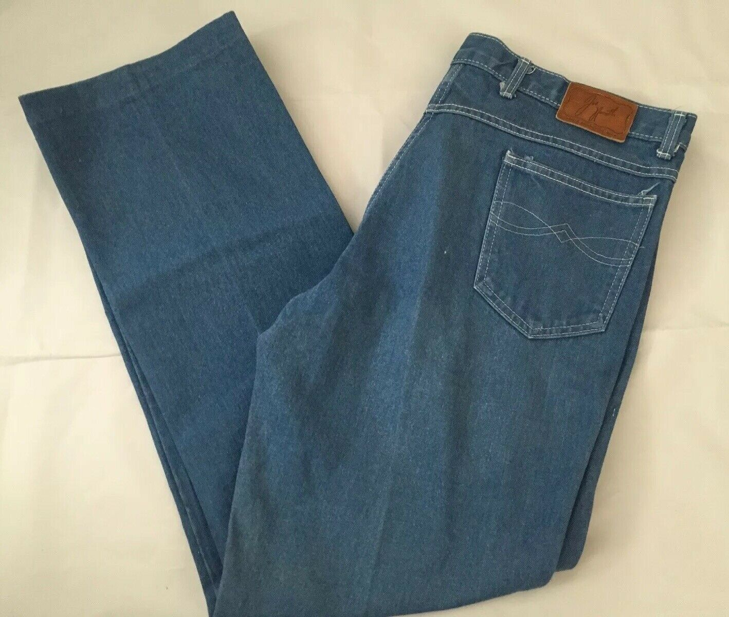 Vintage 1970-80's Mens Joe Namath bluee Jeans Pants Broadway USA, Sz 42x30
