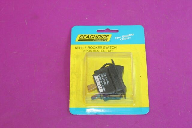 ROCKER SWITCH SEACHOICE 10881 NON-LIGHTED MOMENTARY ON//OFF BLACK BOATINGMALL