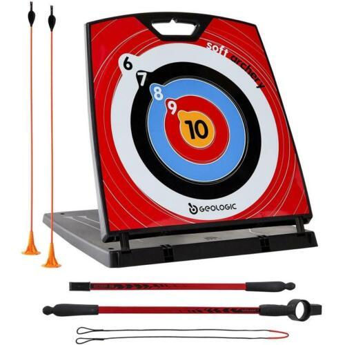 Soft Archery Bow /& 2 Arrow Set Outdoor Indoor Adult Junior Beginners Training