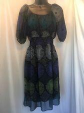 Mossimo Women's Black Size XS Sheer 3/4 Sleeve Maxi Dress