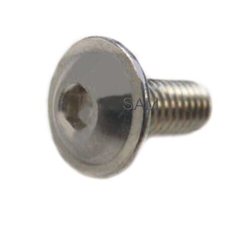 Linsenkopfschrauben ISO 7380 mit FLANSCH A4 Edelstahl V4A M8X8 bis M8X100