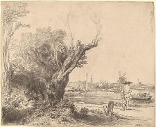 Rembrandt Etching Reproductions: The Omval: Fine Art Print