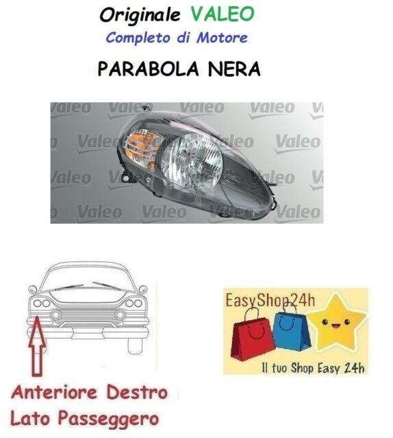 FARO-FANALE ANTERIORE DX FIAT GRANDE PUNTO DAL 2008 PARABOLA NERA TOP QUALITY
