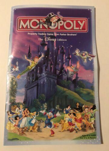 BOGO 30/% Off Monopoly DISNEY Edition Replacement Parts//Pieces U-Pick