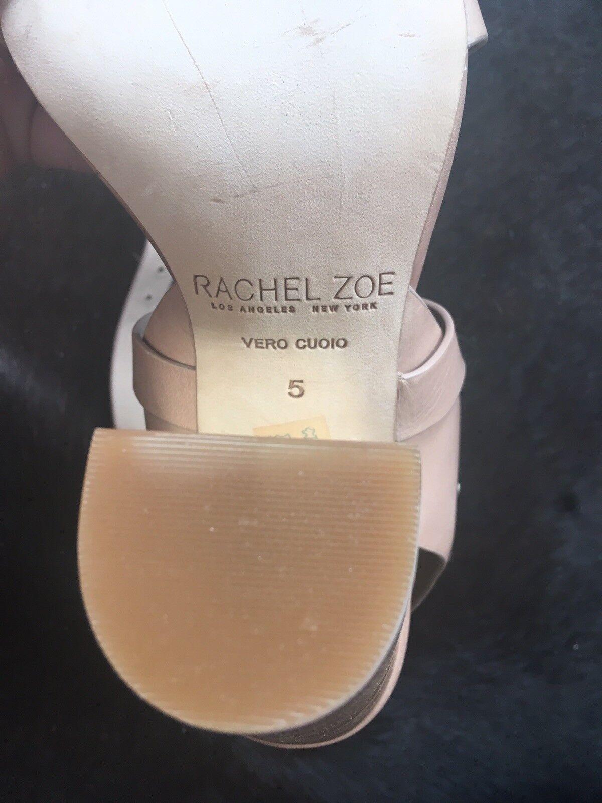 Rachel Zoe Hochwertig Sandaletten Hochwertig Zoe Echtes Leder 35-36 Nude NEU 5bc28f