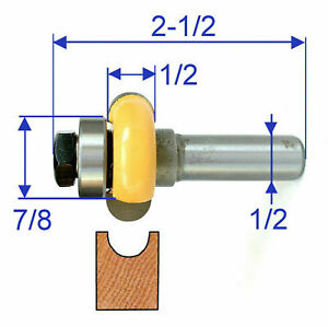 "1pc 1/2"" shank 1/2"" Diameter w/Top Bearing Flute Router Bit S"
