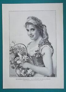 LOVELY-GIRL-Italian-Flower-Seller-from-Florence-1892-Victorian-Era-Print