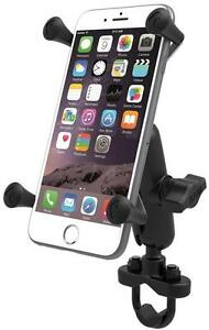 cheap for discount 35479 69a63 Details about RAM Mount Motorcycle Handlebar Rail Mount X-Grip Cell Phone  Holder iPhone 8 8+ X