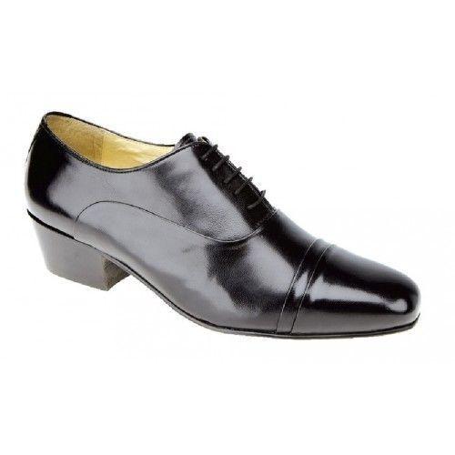 à Montecatini 5 Talon lacets de Formelle cuir en Noir avec ville œillets Chaussures Cubain Mt5115 0BrxUvq0
