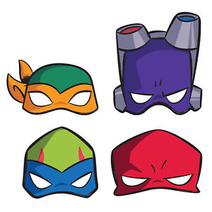 8-X-Rise-Of-The-Teenage-Mutant-Ninja-Turtles-Visage-Fete-Masques-Cotillons