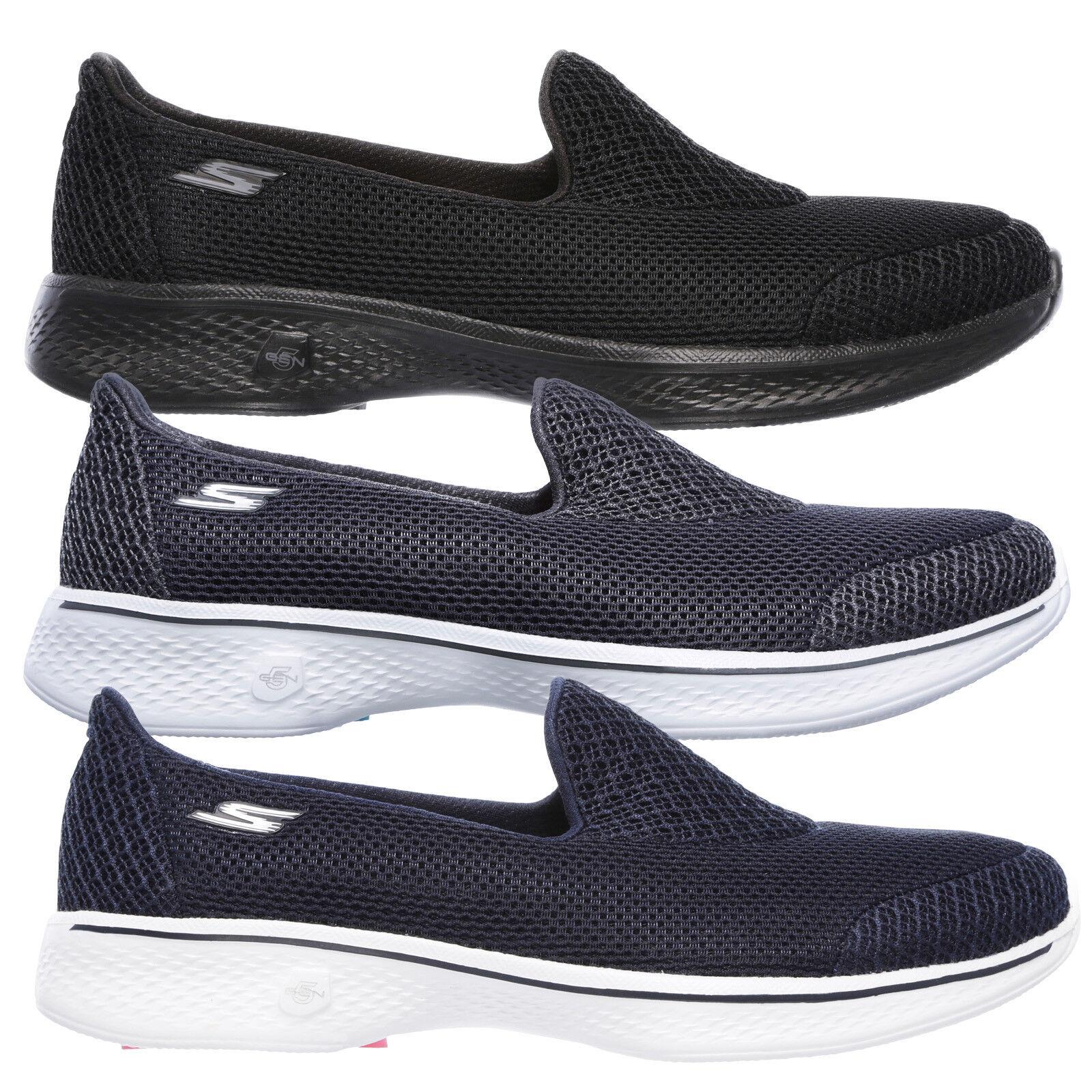 Skechers donna Go Walk 4 Propel Di marca On Dual Layer Maglia Slip On marca Scarpe da ginnastica 9b07b8