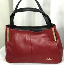CLUCI Satchel RED  Women Genuine Leather Handbags Vintage handle Shoulder Bag