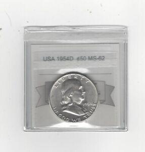 1954d-Franklin-Silver-50-Cent-Coin-Mart