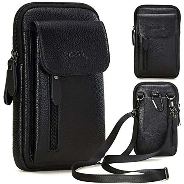 51cfb88bec53 Holsters VIIGER Leather Small Crossbody Travel Purse Bag Large Cell Phone  Pouch