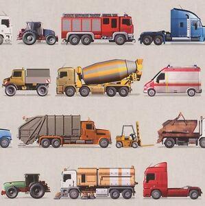 Rasch-Vehicules-Papier-Peint-293906-Feu-Moteur-Camion