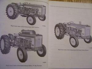 vintage ihc international harvester parts manual 606 2606 farmall rh ebay co uk farmall 140 tractor manual farmall m tractor manual
