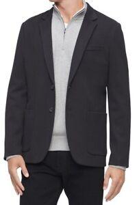 Calvin Klein Mens Douglas Blazer Black Size XL Two-Button Slim-Fit $198 177