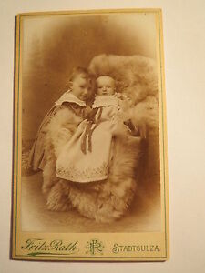 Stadtsulza-September-1903-und-Hertha-Scheller-als-Kinder-Baby-CDV