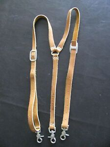 Western Leather Suspenders CRR Charlie Russell Riders 99 - Embroidered Logo