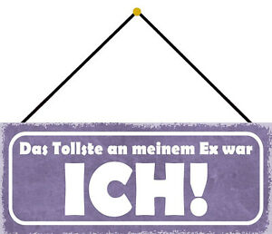 Greatest An Ex Ich Tin Sign Shield with Cord 10 X 27 CM K0715-K