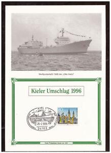 Rfa-Feuillet-Commemoratif-Kiel-Enveloppe-Otto-Robinet-1996-Sst-25-02-1996