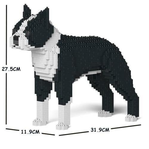 JEKCA Animal Building Blocks Kit for Kidults Boston Terrier 01S-M01
