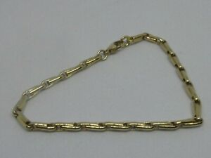 9ct-YELLOW-GOLD-FANCY-LINK-BRACELET-FULL-ENGLISH-HALLMARKS