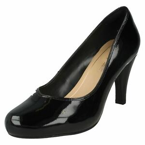 Chaussures talon Dalia à Rose Clarks noir verni P78wEH