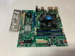 HEATSINK 2X2GB RAM /& PLATE INTEL DQ67SW 1155 MOTHERBOARD W// I5-2400 CPU