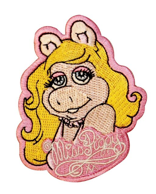 The Muppets Miss Piggy Cartoon Embroidered Girls Iron On Applique Patch