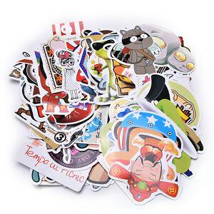 100X-Set-Stickers-Car-Accessory-Stickerbomb-Case-Decals-Decoration-No-Repeat-TB