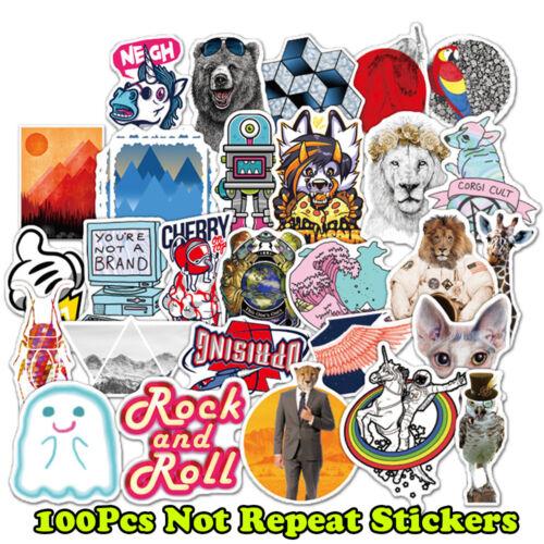 100 Skateboard Stickers Vinyl Laptop Luggage Decals Dope Sticker Lot Mix Random