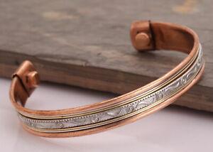 Tibetische-Magnetische-Heilungstherapie-Kupfer-Armband-Schmerzlinderung-Armreif