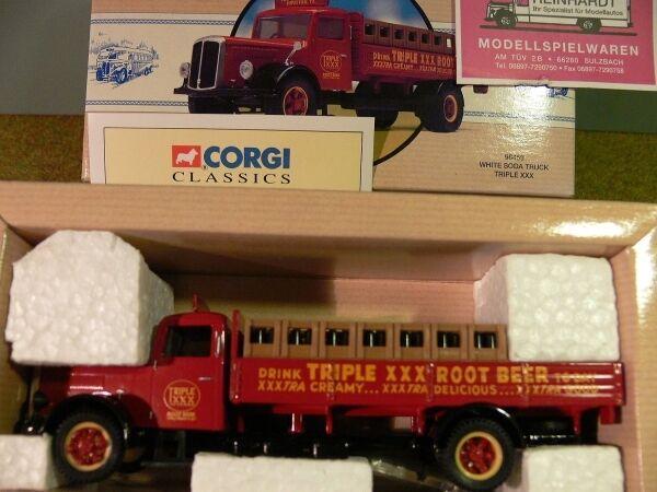 1 50 CORGI bianca Soda TRUCK Triple XXX USA 98459