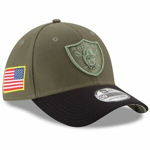 Oakland Raiders Salute to Service New Era 39THIRTY NFL Stretch Hat ... 55ed1b51fe27