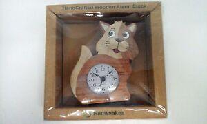 Namesakes-handcrafted-Wooden-Alarm-Clock-Quartz-New-in-Box