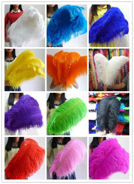 Wholesale 10-50 pcs high quality natural OSTRICH FEATHERS 22-30 inch / 55-75 cm