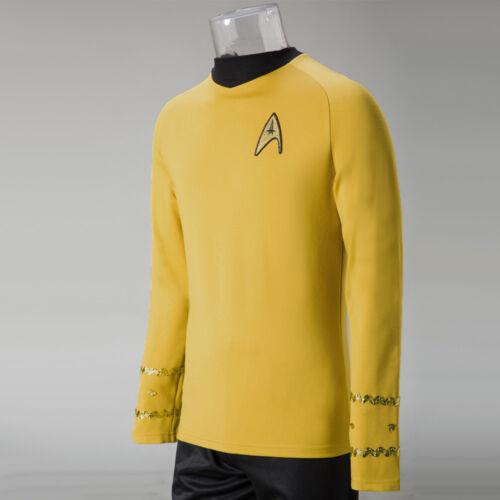 Captain Kirk Shirt Uniform Cosplay Star Trek TOS The Original Series Costume New