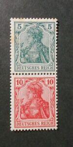"""GERMANY,GERMANIA REICH  Zusammendrucke 1917 """"Allegorie """" 5+10pf MH* Mi.S4II"""