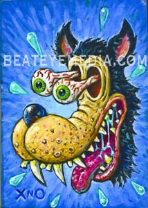 XNO-Original-Art-COMICS-Com-ic-Art-monster-horror-TEX-AVERY-WOLF-rat-fink-ANIMAT