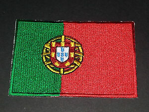 NATIONAL WORLD COUNTRY EMBROIDERED FLAG SEW/IRON ON PATCH:- PORTUGAL